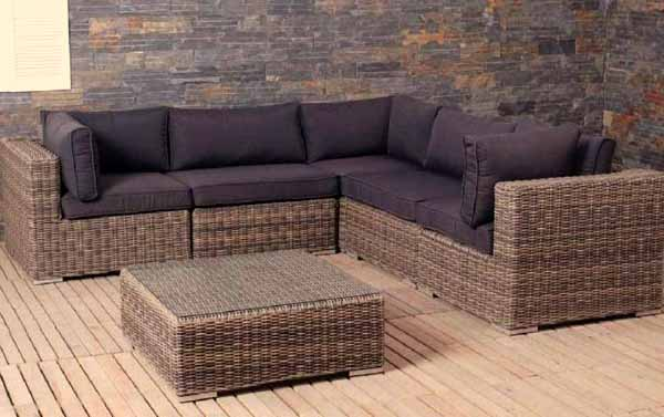 Search results for divani in rattan sintetico black for Salotto da terrazzo