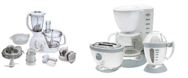 Posizione dei piccoli elettrodomestici in cucina