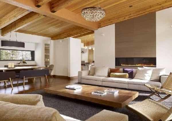 Arredare la zona giorno di una casa prefabbricata in legno