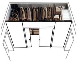 Come ricavare una cabina armadio - Struttura cabina armadio ikea ...