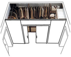 ricavare una cabina armadio?